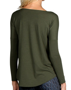 PERFORMANCE WOOL SCOOP NECK LONG SLEEVE