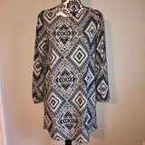 Small Honey Punch Patterned Shift Dress