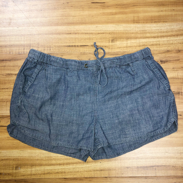 j crew Chambray Small Shorts drawstring