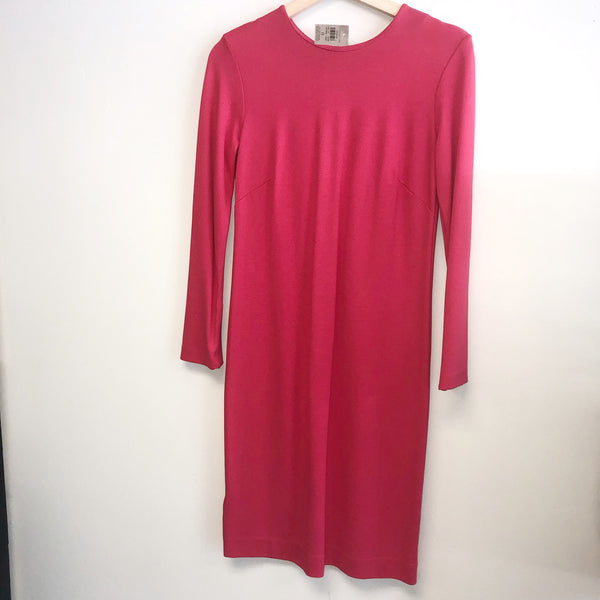NWT ann taylor dress 0 Hot Pink zipper sleeve
