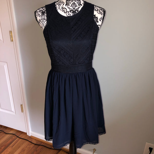 Francesca's Medium Navy Blue Dress