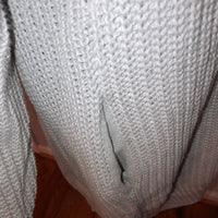 Knitted & Knotted from Anthropologie Medium Kya Ribbed Grey Oversized Sweater retail $168