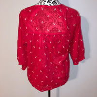 Madewell Small Red Blouse Lightweight