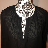 Mossimo Small Black Chiffon Blouse