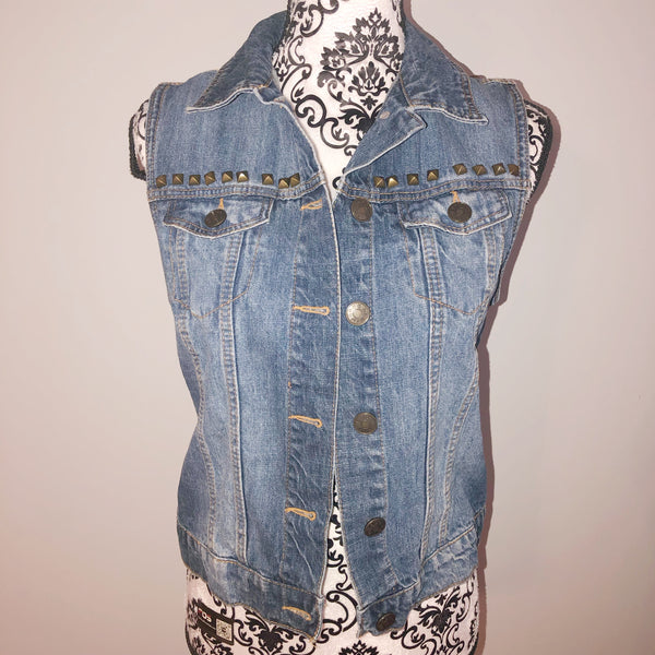 BDG small Studded Denim Vest