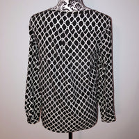 Gap XS Black White Patterned Blouse