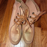 Timberland Tan Shimmer Booties Wedges 7.5