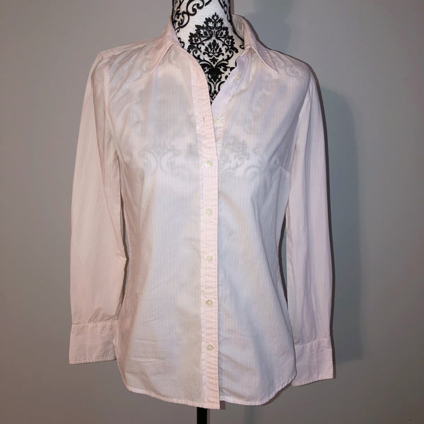 Small J. Crew Pink Striped Button Down