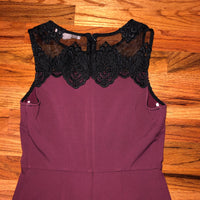 XS Forever 21 Maroon Black Lace Dress