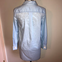 Zara Blue Button Shirt High Low XS