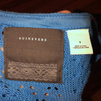 Guinevere Small Blue Crochet Top