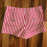 Small Love In Red White Stripe Shorts Nautical