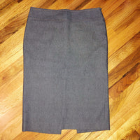 Small Zara Pencil Grey Skirt Slit