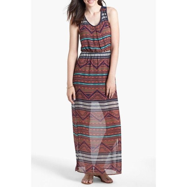 Dee Elle Maxi Dress Tribal print