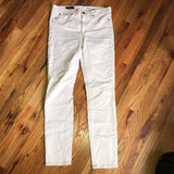 J. Crew 29 R White Midrise Toothpick Skinny Jeans