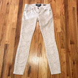 Lucky Brand Charlie Skinny Jeans 0 25 tan pattern