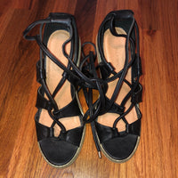 Silence + Noise from Urban Outfitters Women's Black Sofia Lace-up Heel 8