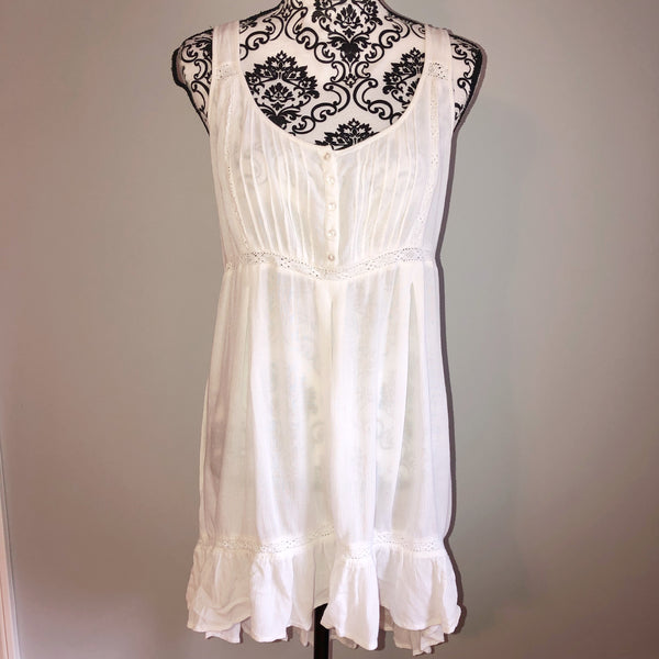 Small Forever 21 White Swimsuit Cover Up Dress
