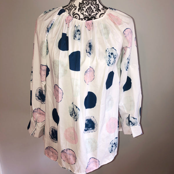 Large Polka Dot Blouse No Labels