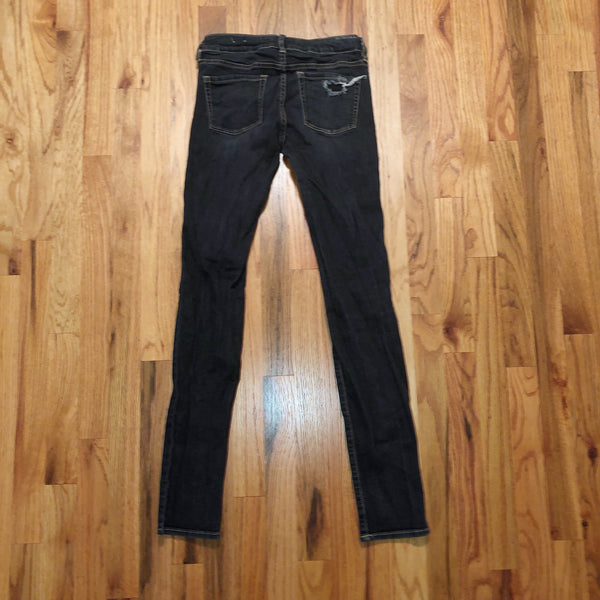 Bullhead Black 3 Distressed Dark Skinny Jeans