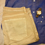 0 27 Current/Elliott polka dot tan pants Retail $198