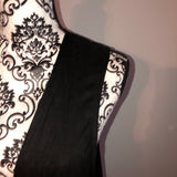NWT Mad Style Black Suede Long Vest One Size