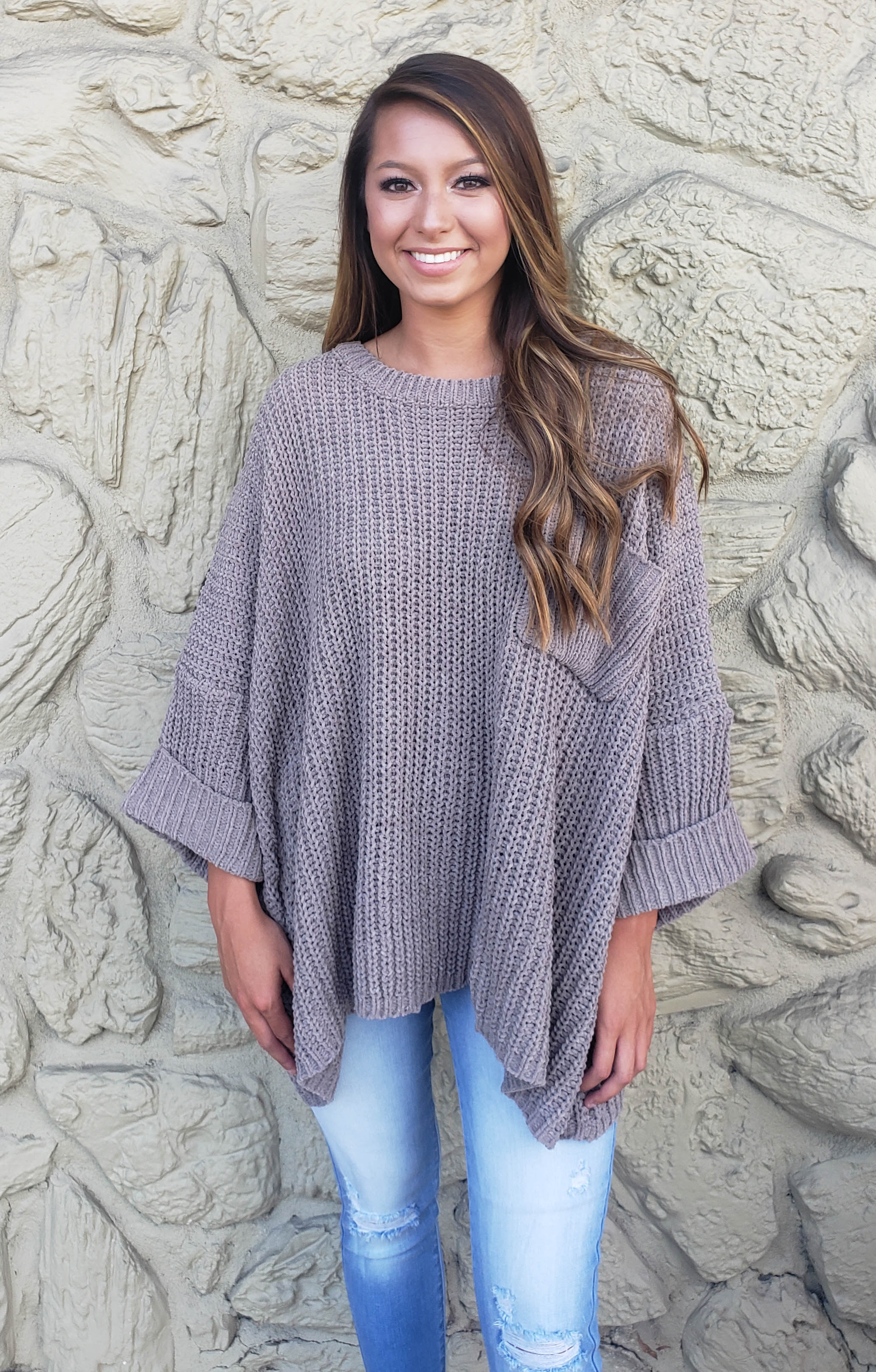 Over-sized Cuff Sleeve Sweater