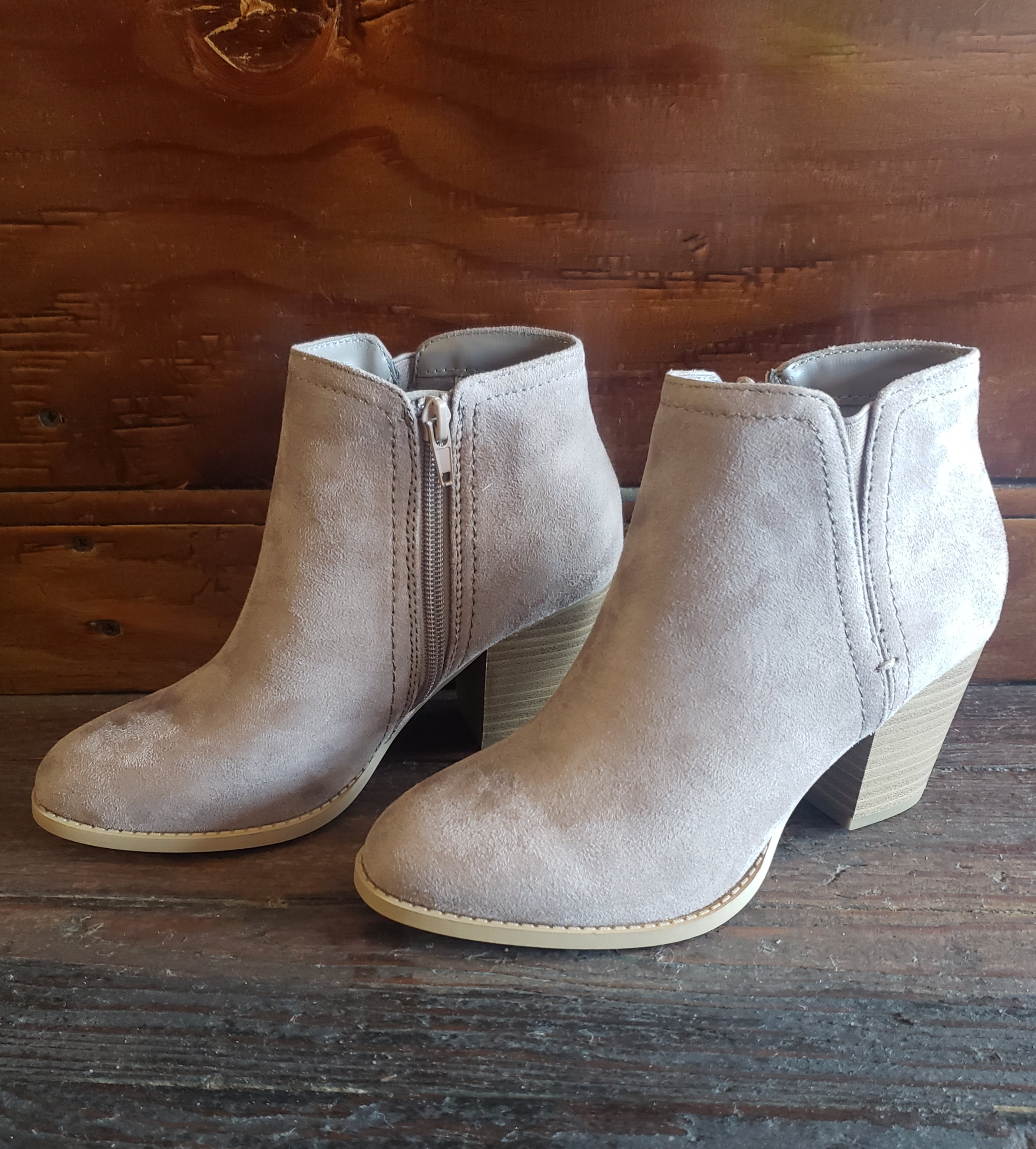 Taupe Perry Booties