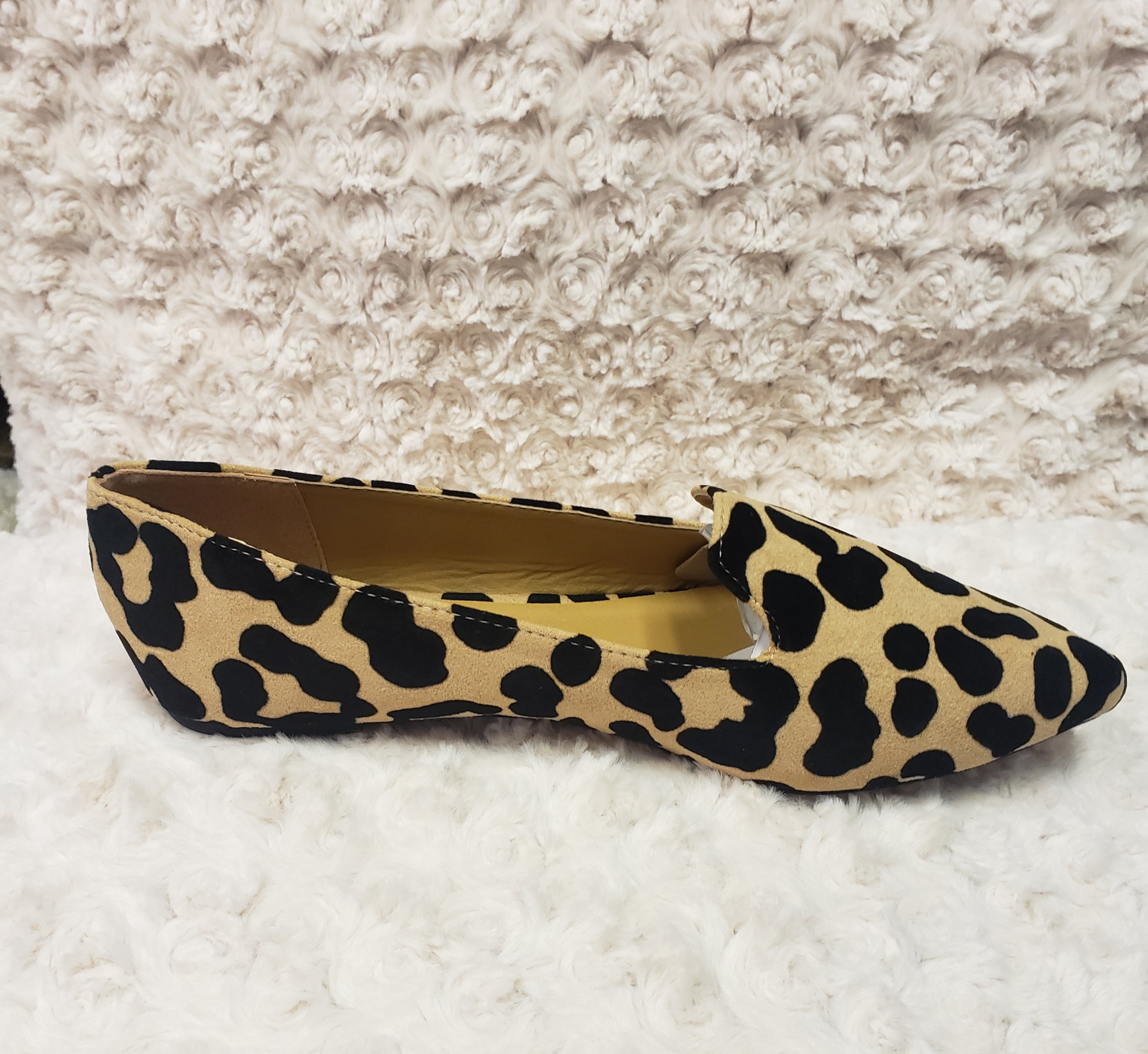 Tan & Black Leopard Flats