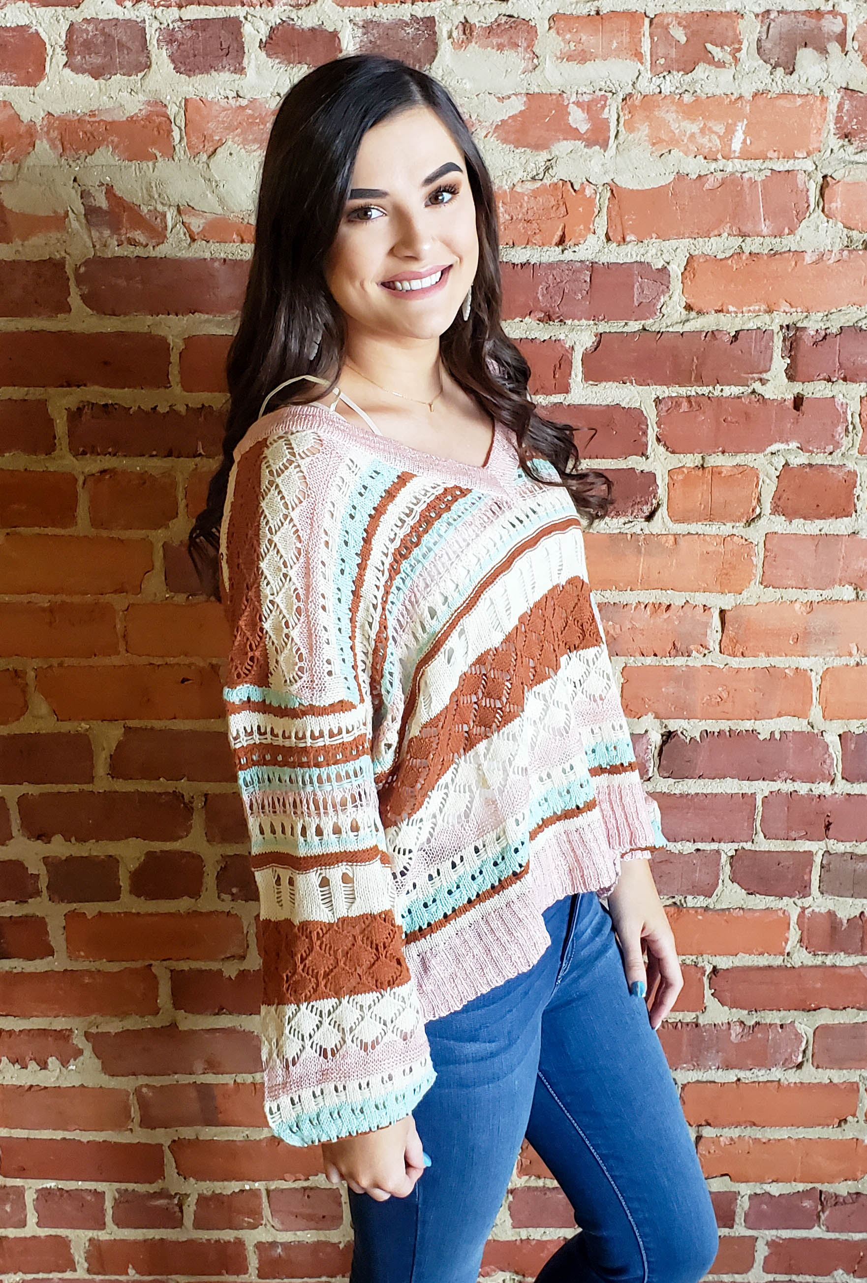 Multicolor Crochet Sweater