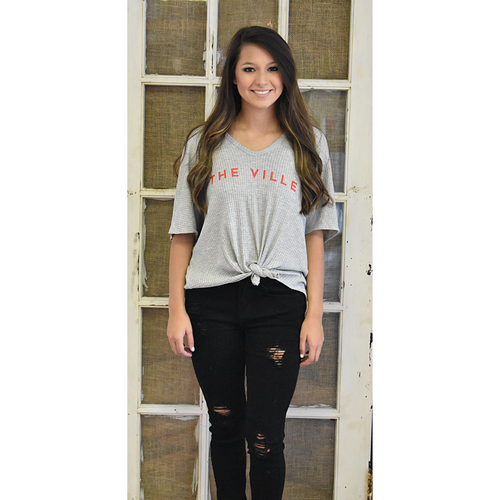 """The Ville"" Waffle Tie Top"