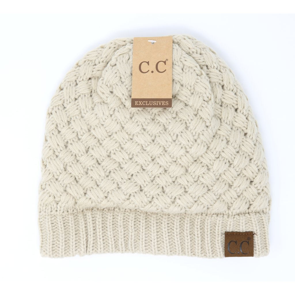 Basket Weaved CC Beanie