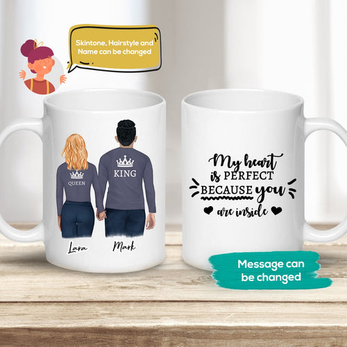 King Queen Couples Mug