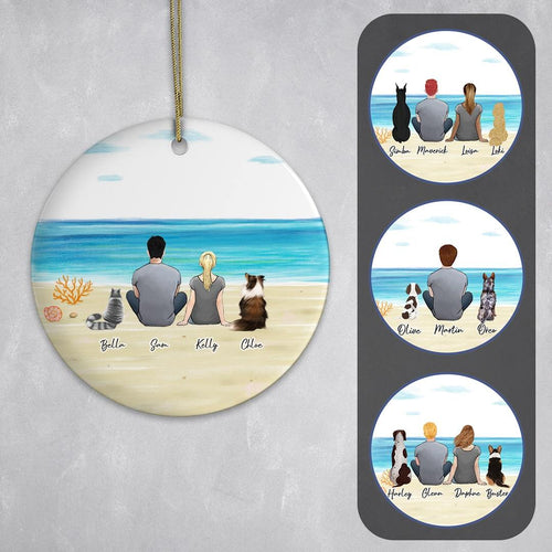 Beach Sand Circle Ornament - Pet & Owner Personalized Ornament Gooten