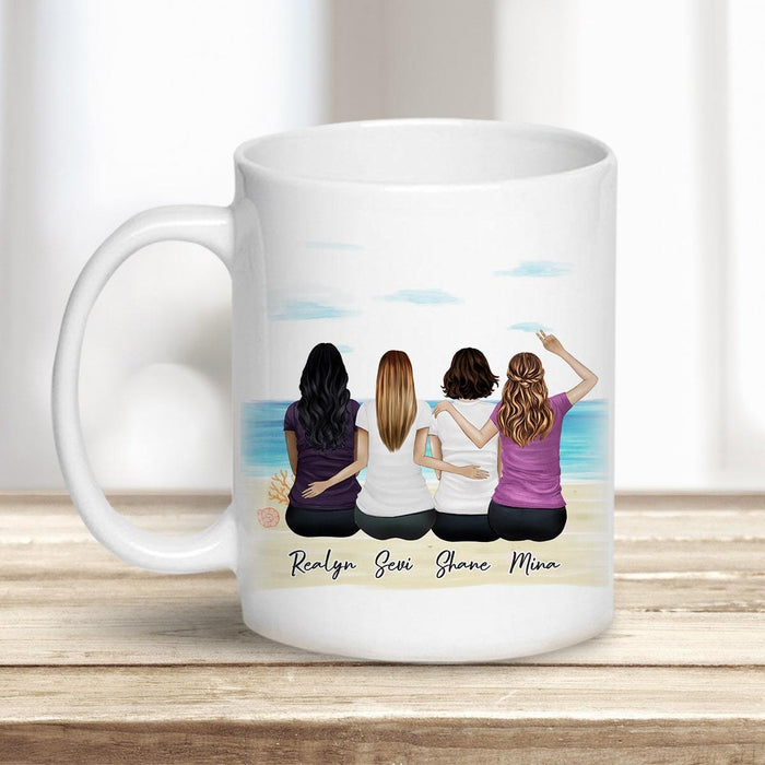 Beach Sand Personalized Best Friend Sister Coffee Mugs Mug Gooten