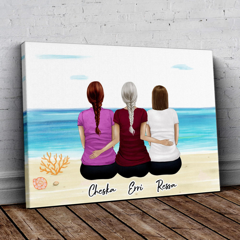 Beach Sand Personalized Best Friend Wrapped Canvas Wrapped Canvas Gooten
