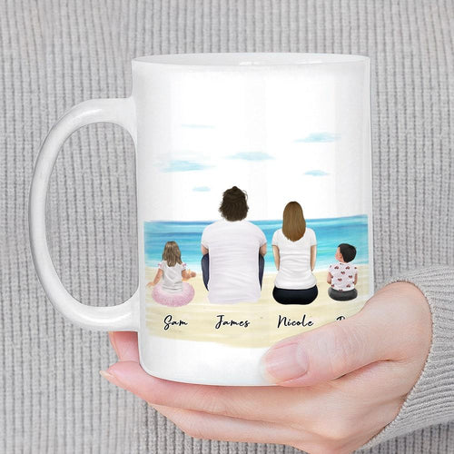 Beach Sand Personalized Family Coffee Mug Mug Gooten