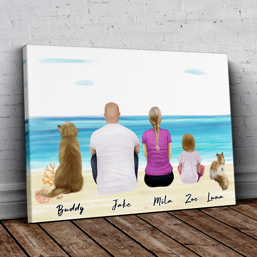 Beach Sand Personalized Family Wrapped Canvas Gooten