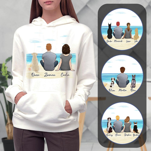 Beach Sand Personalized Pet & Owner Hoodies Gooten