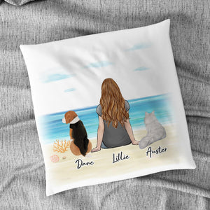 Beach Sand Personalized Pet & Owner Pillow Gooten