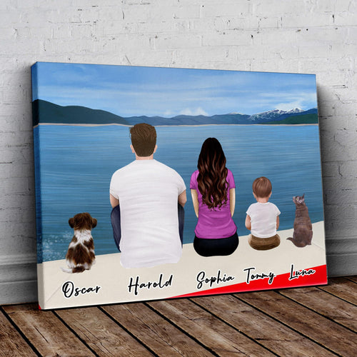 Boat Personalized Family Wrapped Canvas Gooten