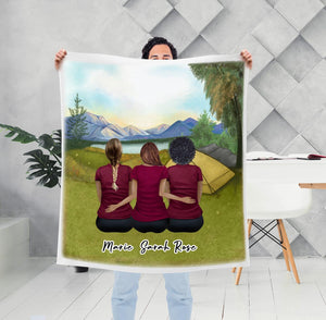 Camping Personalized Best Friend Sister Blanket Blanket Gooten