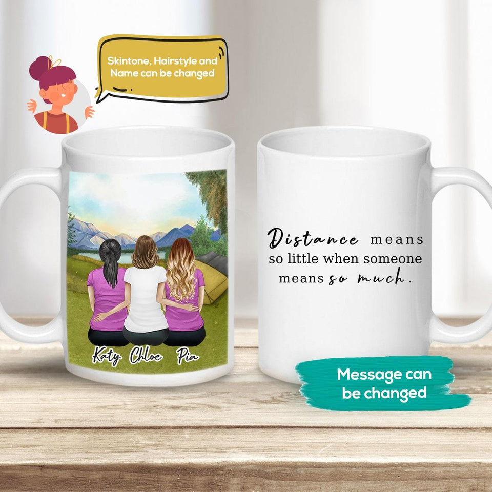Camping Personalized Best Friend Sister Coffee Mugs Mug Gooten