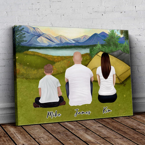 Camping Personalized Family Wrapped Canvas Gooten