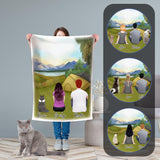 Camping Personalized Pet & Owner Blanket Blanket Gooten