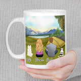 Camping Personalized Pet & Owner Coffee Mug Mug Gooten