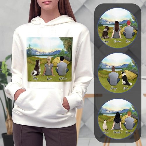 Camping Personalized Pet & Owner Hoodies Gooten