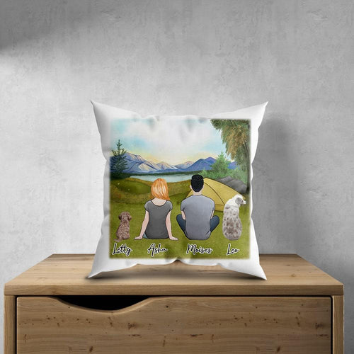 Camping Personalized Pet & Owner Pillow Gooten