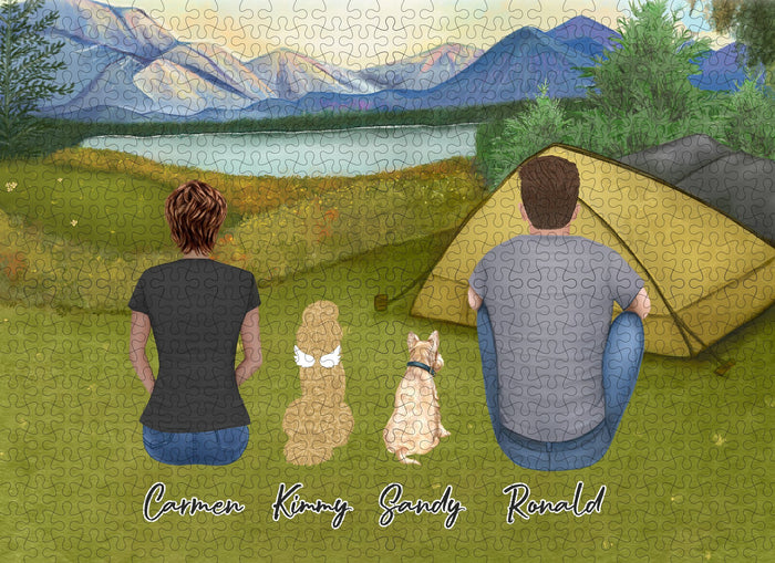 Camping Personalized Pet & Owner Puzzle Puzzle Puzzle