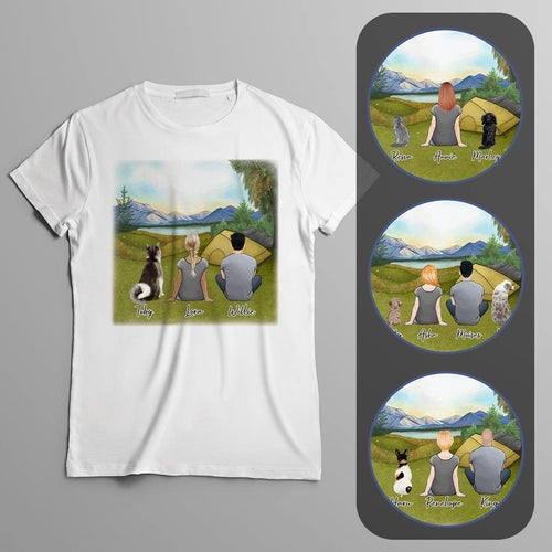 Camping Personalized Pet & Owner T-Shirt Gooten